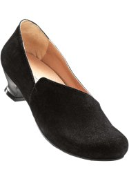 Lederslipper, bpc selection, schwarz