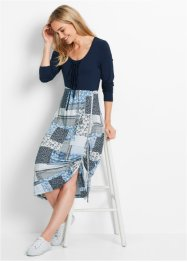 Kleid, Langarm, bpc bonprix collection, dunkelblau bedruckt