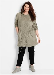 Velourslederimitat-Mantel, bpc bonprix collection, new khaki