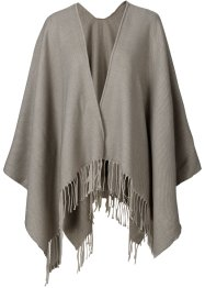 "Poncho ""uni"", bpc bonprix collection, beige melange"
