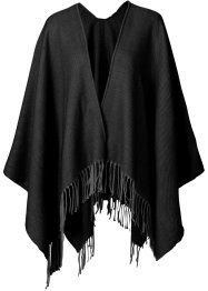 "Poncho ""uni"", bpc bonprix collection, schwarz"