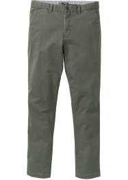 Chino-Hose Minimalmuster Slim Fit, bpc selection, oliv gemustert