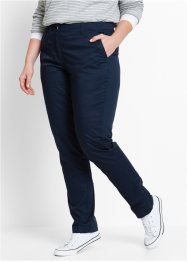Chino-Hose mit verstellbarem Bund, bpc bonprix collection, dunkelblau