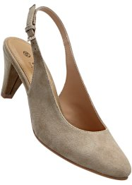 Lederslingpumps, bpc selection, beige