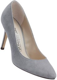 Velourslederpumps, bpc selection, grau