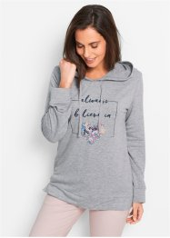 Sweatshirt, bpc bonprix collection, hellgrau meliert