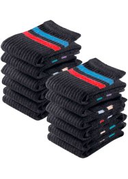 GO IN Sportsocken (12er-Pack), GO IN, schwarz geringelt