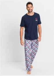 Pyjama, bpc bonprix collection, dunkelblau kariert