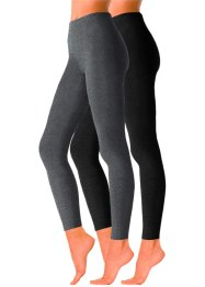 LAVANA Strickleggings (2er-Pack), LAVANA, anthrazit/schwarz