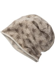 Beanie Sterne, bpc bonprix collection, taupe