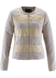 Steppjacke mit Pailletten, bpc selection, naturstein