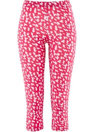 Capri-Leggings, bpc selection, hibiskuspink/weiß