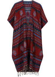 Poncho Boho, bpc bonprix collection, rot/multi
