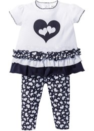 Baby-T-Shirt + Leggings (2-tlg.) Bio-Baumwolle, bpc bonprix collection