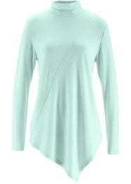 Rollkragen-Shirt, bpc bonprix collection, pastellmint meliert