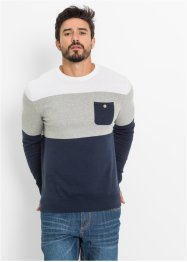 Pullover Regular Fit, bpc bonprix collection, dunkelblau gestreift