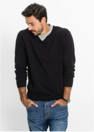 Pullover im Regular Fit, bpc bonprix collection, schwarz