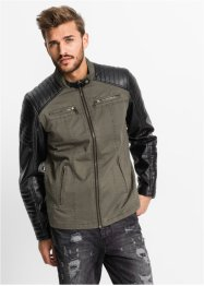 Lederimitat-Jacke im Regular Fit, RAINBOW