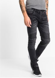 Stretch-Jeans SLIM, RAINBOW, black denim