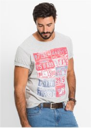 T-Shirt Regular Fit, John Baner JEANSWEAR, hellgrau meliert