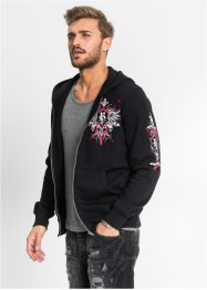Sweatjacke Slim Fit, RAINBOW, schwarz