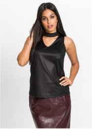 Choker-Top im Wetlook, BODYFLIRT