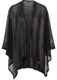 luftiger Poncho uni, bpc bonprix collection, schwarz