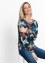 Sweatshirt mit all-over- Blumendruck, RAINBOW, dunkelblau geblümt