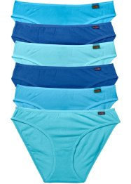 Slip (6er-Pack), bpc bonprix collection, türkis/blau/aqua