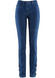 Stretchjeans mit Schnürung, bpc selection, blue stone