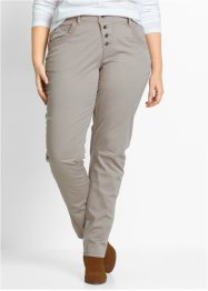 Stretch-Hose mit Rippbund, bpc bonprix collection, naturstein
