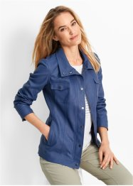 Lederimitat-Jacke, bpc bonprix collection, indigo