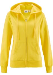 Sweatjacke, bpc bonprix collection, zitronengelb