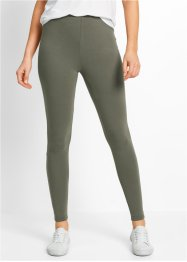 Stretch-Leggings, bpc bonprix collection, oliv+schwarz