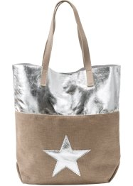 Sternshopper metallic, bpc bonprix collection, natur/silber