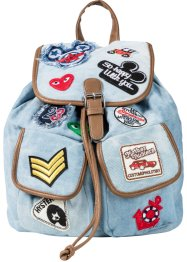 Rucksack Patches, bpc bonprix collection, hellblau
