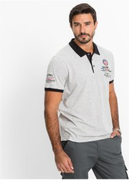 Poloshirt Regular Fit, bpc selection, grau meliert
