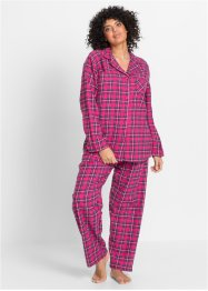 Flanell Pyjama, bpc bonprix collection, pink kariert