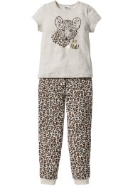Pyjama, bpc bonprix collection, naturmeliert