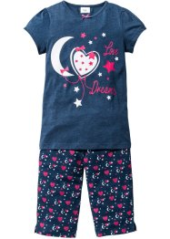 Pyjama (2-tlg. Set), bpc bonprix collection, blau meliert