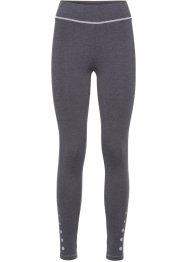 Lange Funktions-Leggings, bpc bonprix collection, schiefergrau meliert