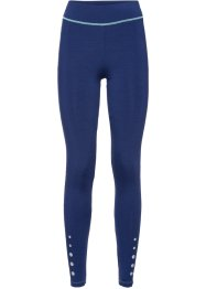 Lange Funktions-Leggings, bpc bonprix collection, mitternachtsblau meliert