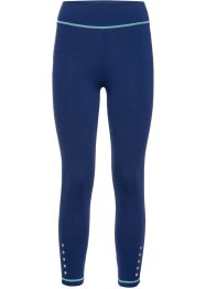 Funktions-Leggings in 3/4-Länge, bpc bonprix collection, mitternachtsblau meliert