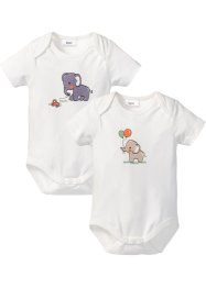 Baby Kurzarmbody (2er-Pack) Bio-Baumwolle, bpc bonprix collection