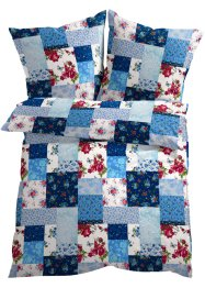 "Bettwäsche ""Patchwork"", bpc living, blau"
