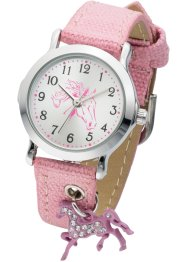 Kinderuhr Pferd, bpc bonprix collection, rosa