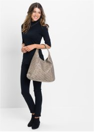 Shopper Lasercut, bpc bonprix collection, taupe metallic
