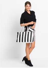 Shopper Stripes, bpc bonprix collection, schwarz/weiß