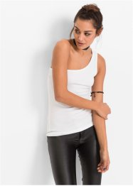 One-Shoulder Top (2er-Pack), RAINBOW, weiß/schwarz