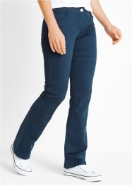 Hose aus Baumwollstretch im Bootcut, bpc bonprix collection, dunkelblau